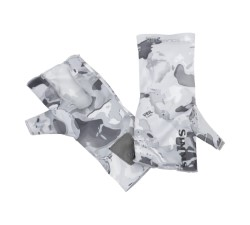Simms SolarFlex SunGlove No-Finger Cloud Camo Grey