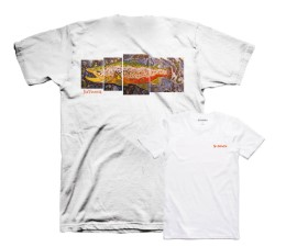 Simms DeYoung Brown Trout White T-Shirt