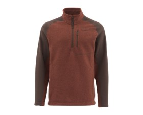 Simms Rivershed Sweater-Quarter Zip Rusty Red