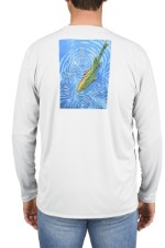 Simms Solar Tech Tee Rising Trout Sterling