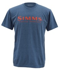 Simms Wordmark Navy Heather