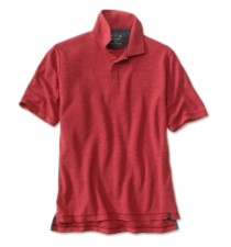 Orvis Drirelease Snap Polo Red