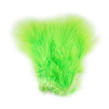 Hareline Blood Quill Marabou Chartreuse