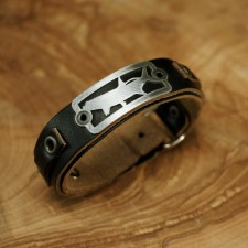 Sight Line Tarpon 2.0 Horween Black Leather Bracelet