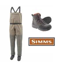 Simms Tributary Wader Set with Freestone Rubber Boots