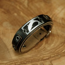 Sight Line Trout 2.0 Horween Black Leather Bracelet