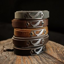 Sight Line Trout 2.0 Horween Gray Leather Bracelet