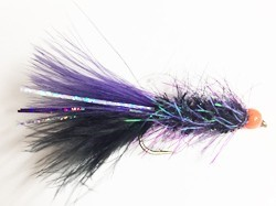 Umpqua Pops Bugger Pearl/Grizzly #10