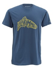 Simms Woodblock Trout Navy